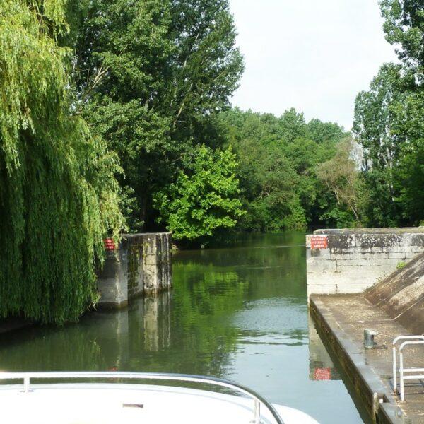 Fluss Charente Bootsfahrt