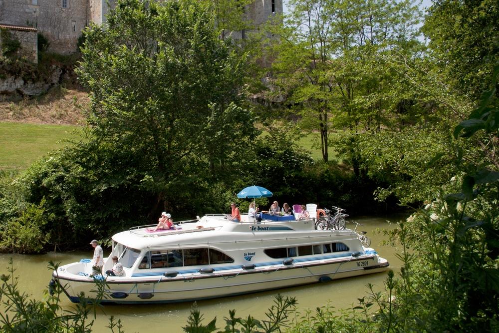 Mit dem Hausboot durch Aquitanien