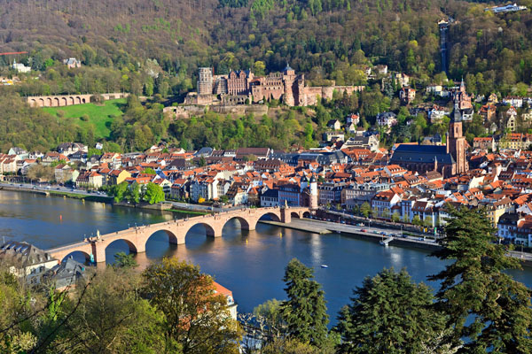 Heidelberg Hausbootfahrt am Neckar