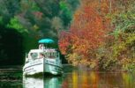 Bootsfahrt im Herbst im Burgund