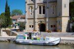 Bootsurlaub am Canal du Midi, Boot legt an
