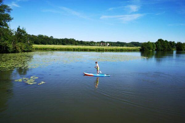 Burgund Stand Up Paddel Fluss Saone