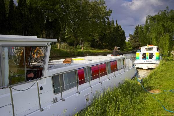 Anlegen am Canal du Midi mit Penichette