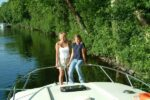 Crew auf dem Boot Shannon