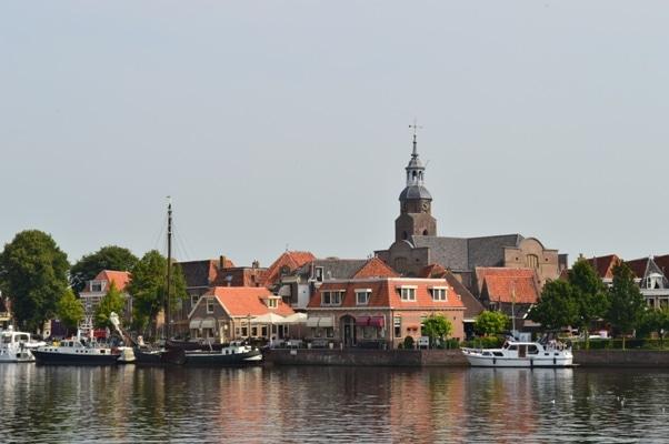 Hafen nähe Lemmer Friesland Boot fahren