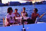 Hausboote in Venedig Italien