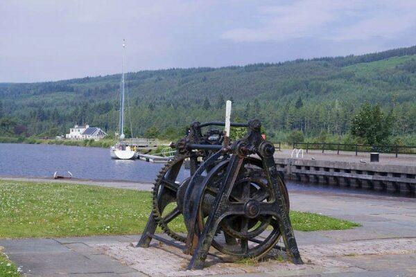 Kanalfahrt Schottland an der Schleuse