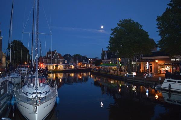 Lemmer bei Nacht Hafen