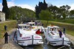 Penichette Hausboote in der Schleuse am Canal Midi