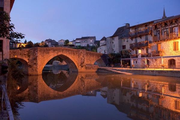 Sonnenuntergang Brücke Aquitanien