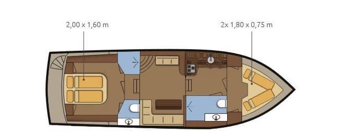 Grundriss Boot Gruno 35 Excellent