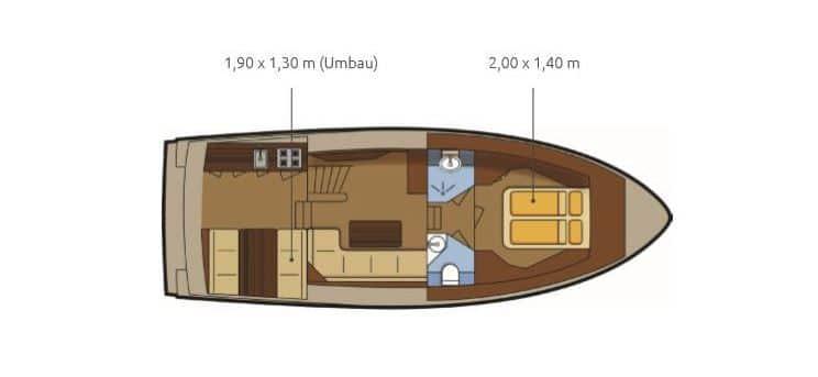 Grundriss Boot Pedro Skiron 35
