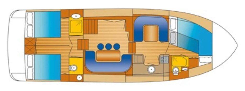 Grundriss Boot Mercurius