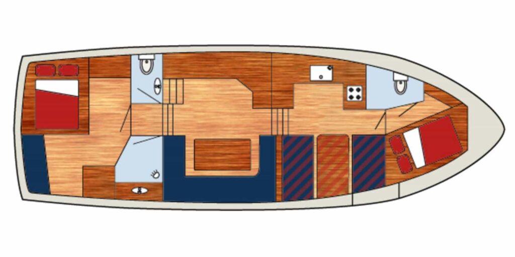 Grundriss Boot Antaris