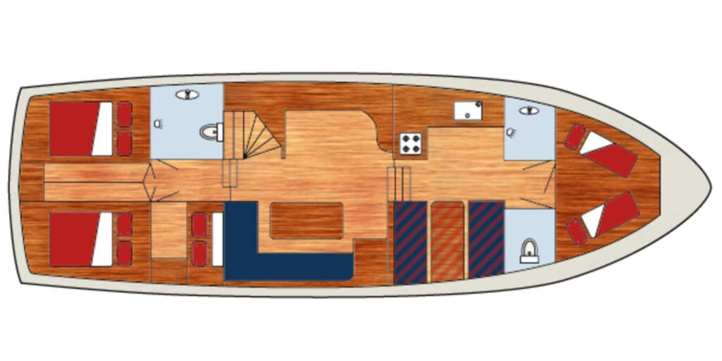Grundriss Boot Atlas