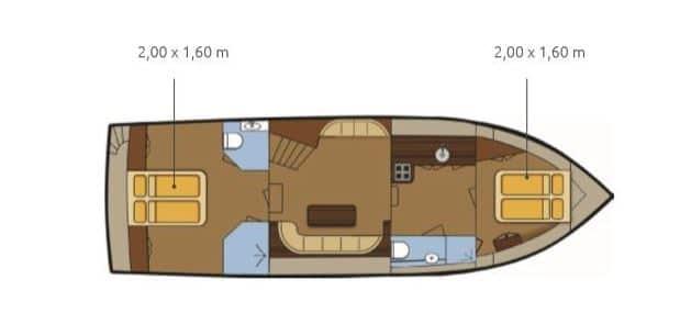 Grundriss Boot Gruno 37 Excellent