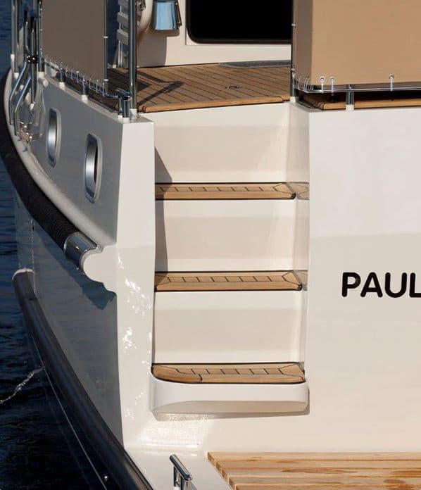 Treppe Heck Boot Linssen 350 Paulina