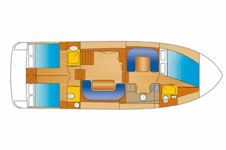 Grundriss Boot Advantage 42 Drait 80